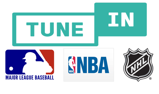 TuneIn affiliate clienst MLB NBA NHL