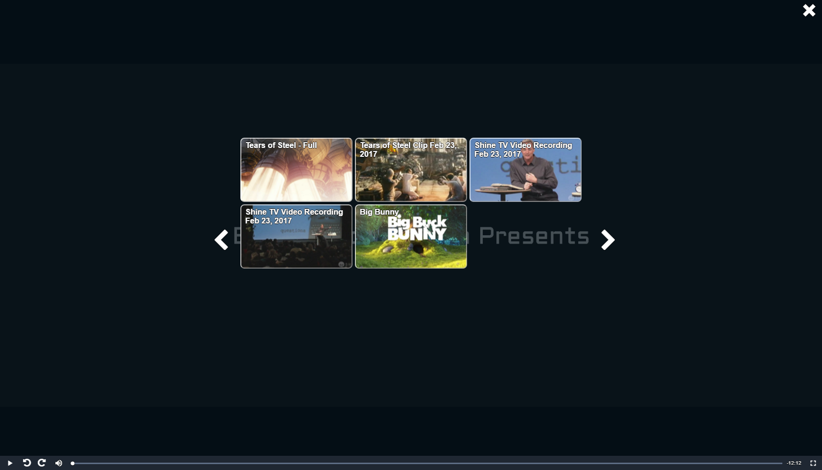 SGplayer video grid layout